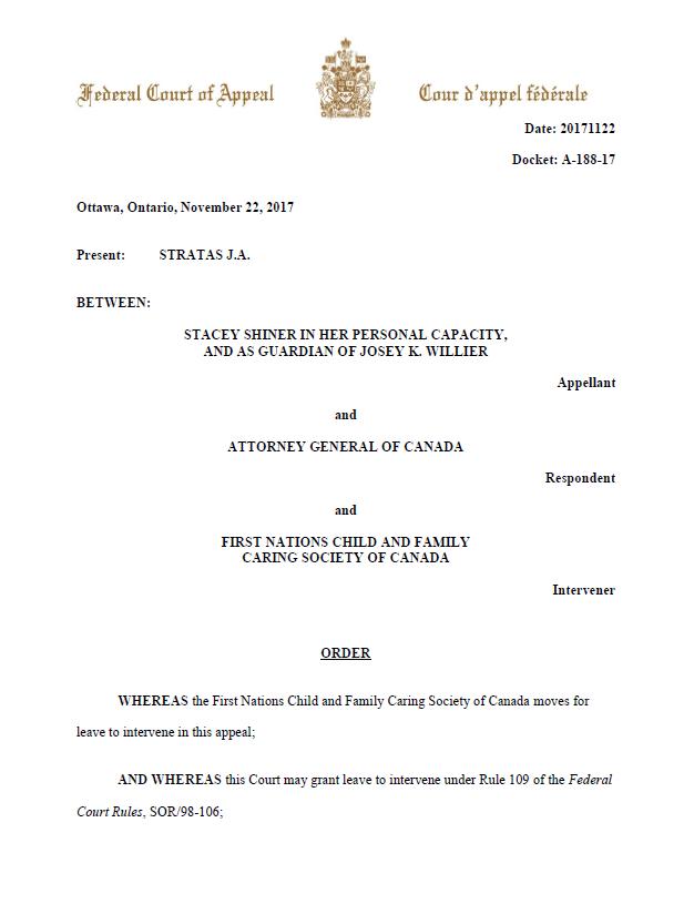 leave to intervene supreme court of canada motion pdf