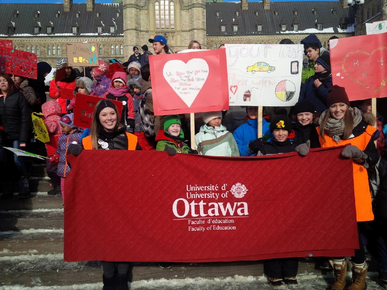 University Students at Have a Heart Day 2015