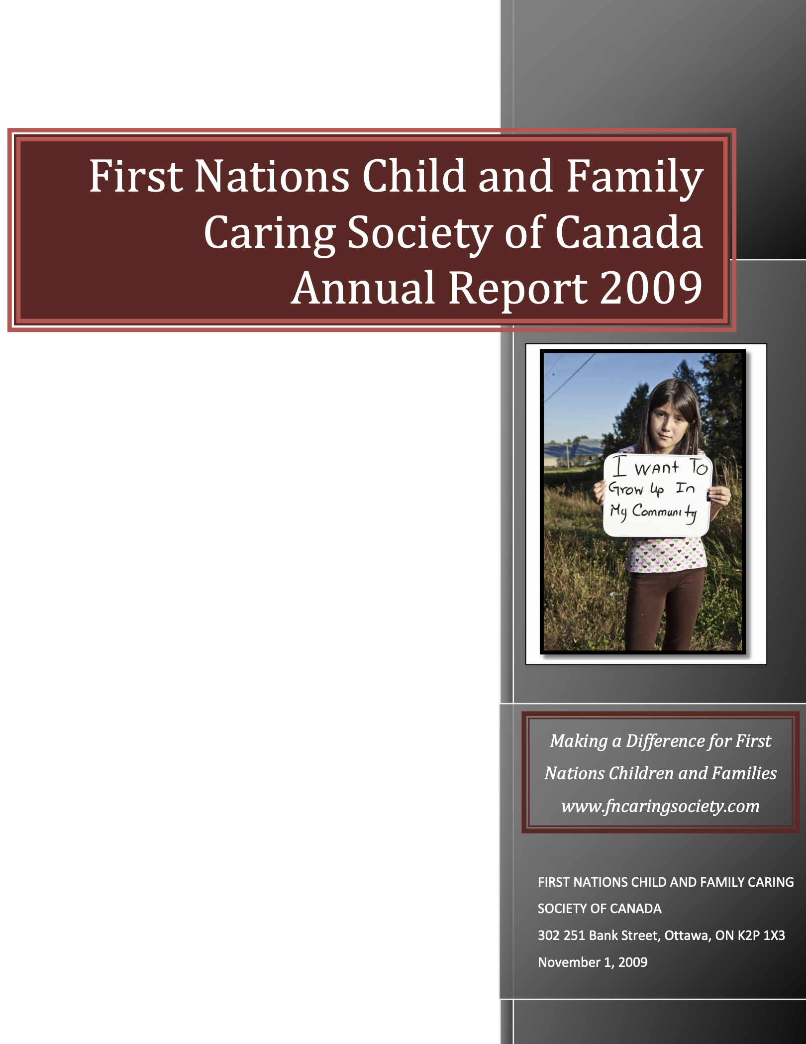 Annual Report 2009 Cover