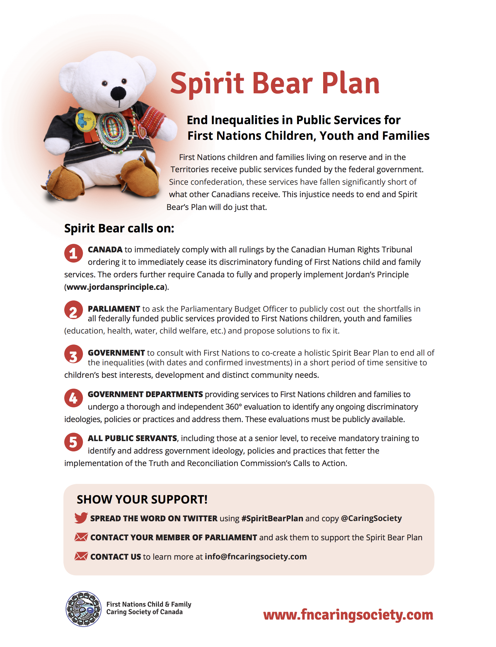 Spirit Bear Plan   The Caring Society