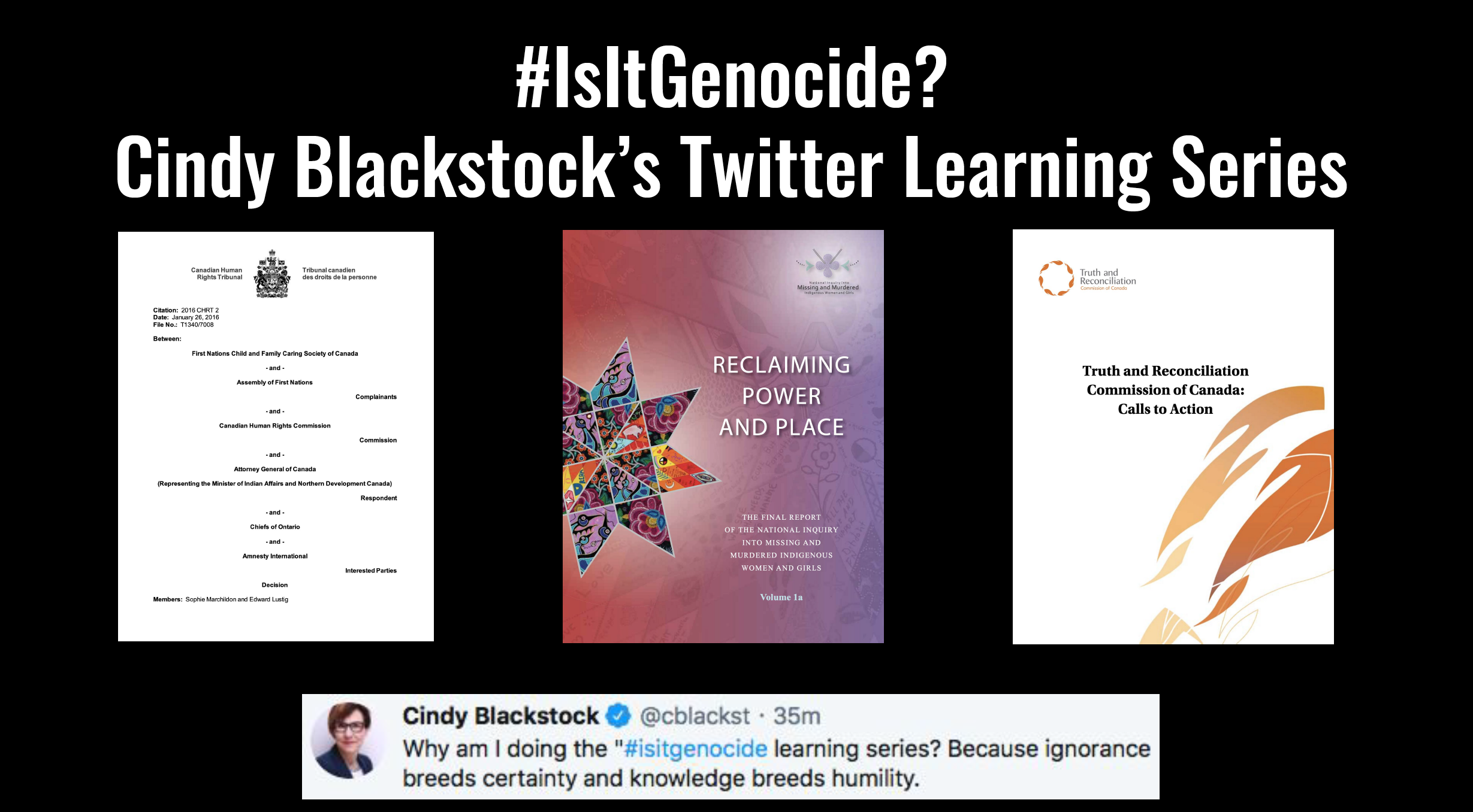 #IsItGenocide?