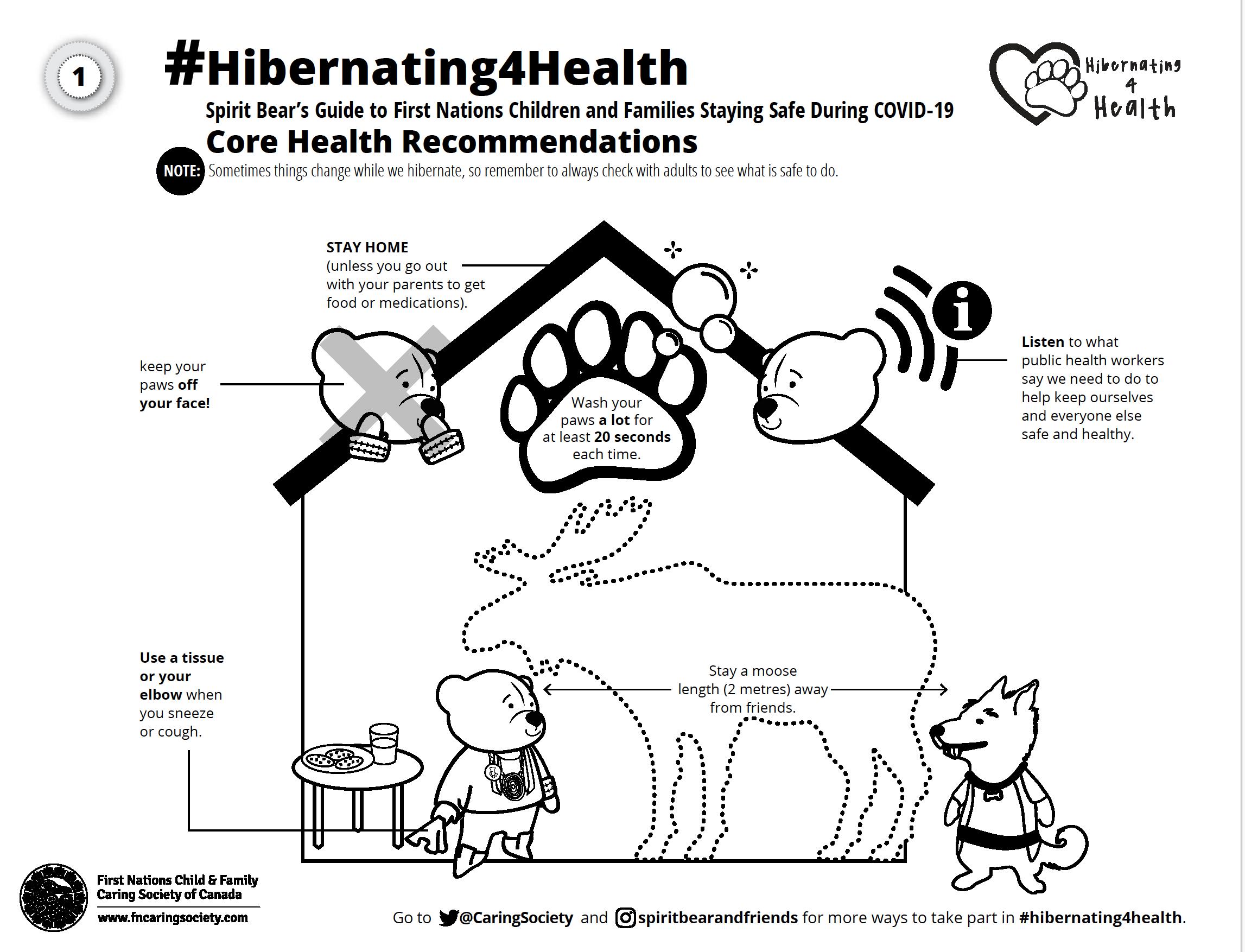 #Hibernating4Health Colouring Sheet #1