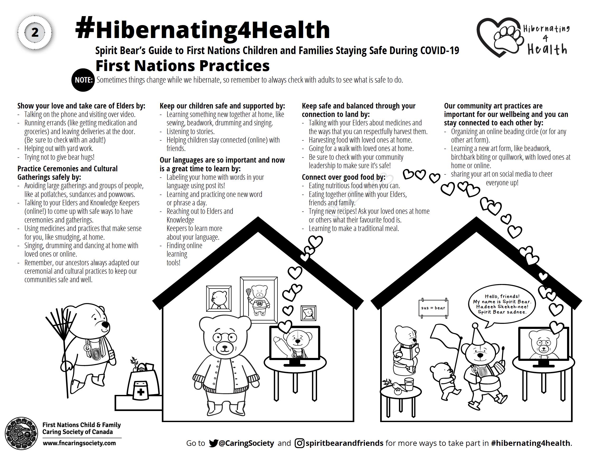 #Hibernating4Health Colouring Sheet #2