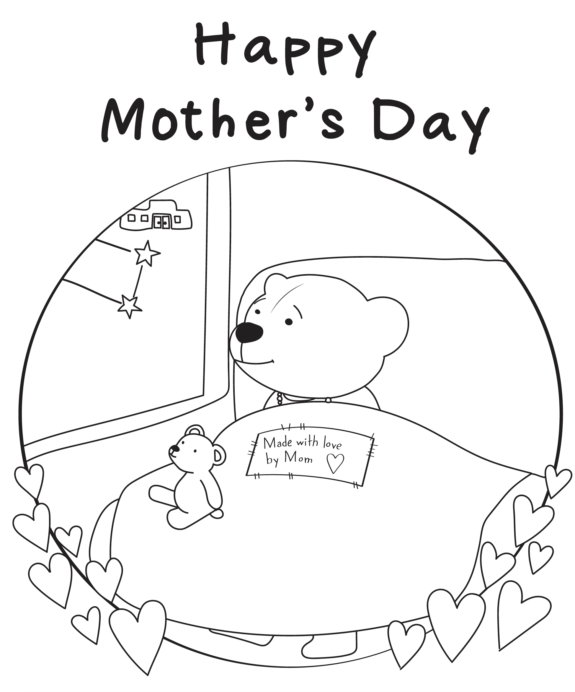 Mother's Day Colouring Sheet