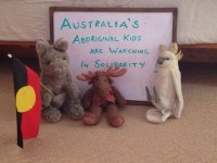 Australia's Aboriginal kids are watching in solidarity!