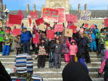 Children from Ottawa, Gatineau and Kitigan'Zibi stood with First Nations children by sharing their hearts.