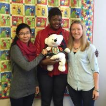Spirit Bear meets three inspiring women: Htet Htet of Burma, Riya of South Sudan and Rachel of the Nobel Women's Initiative (September 24, 2015)