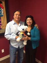 Spirit Bear with Jim and Rose of West Region Child and Family Services (Oct. 22, 2015)