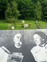 P.H. Bryce and his wife Kate Lynde Pardon (bottom) and their gravesite (top)